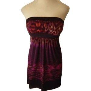Bisou Bisou Strapless Burgundy Dress 4